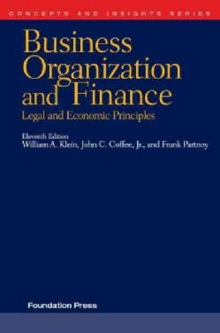 Business Organization and Finance: Legal and Economic Principles (Paperback)