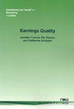 Earnings Quality (Paperback)