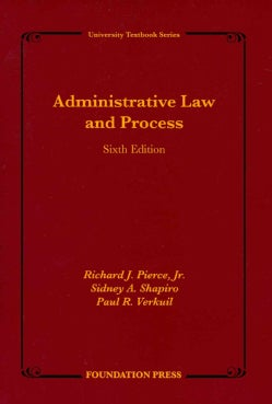 Administrative Law and Process (Paperback)
