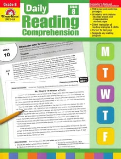 Daily Reading Compreneshion, Grade 8 (Paperback)