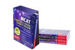 Kaplan MCAT Complete 5-Book Subject Review: Comprehensive Review, Practice, and Strategies (Paperback)