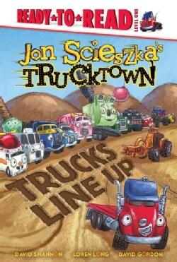 Trucks Line Up (Hardcover)