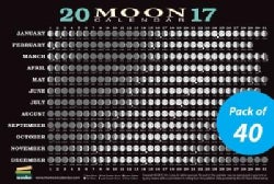Moon Calendar Card 2017 - 40 Pack: Lunar Phases, Eclipses, and More! (Cards)
