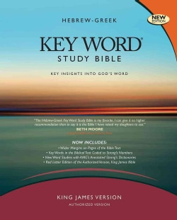 The Hebrew-Greek Key Word Study Bible: King James Version, Black, Genuine Leather, Thumb-Indexed With Ribbon Marker (Paperback)