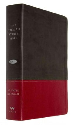 The Jeremiah Study Bible: New King James Version, Charcoal/Burgundy, LeatherLuxe (Paperback)