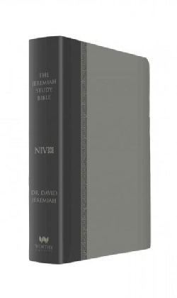 Holy Bible: New International Version, Gray With Burnished Edges, Leatherluxe With Thumb Index, the Jeremiah Stud... (Paperback)