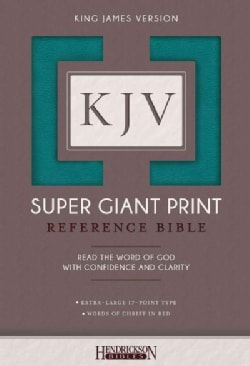 Holy Bible: King James Version, Turquoise, Super Giant Print (Paperback)