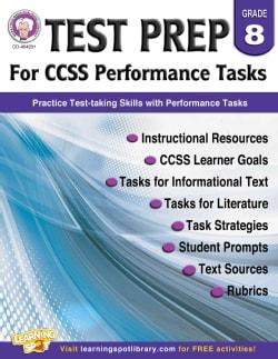 Test Prep for CCSS Performance Tasks, Grade 8 (Paperback)