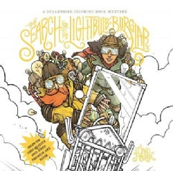 The Search for the Lightbulb Burglar: A Steampunk Coloring Book Mystery (Paperback)