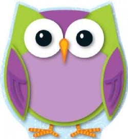 Colorful Owl Cut-Outs (Paperback)