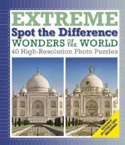 Wonders of the World: Extreme Spot the Difference, 40 High-Resoluton Photo Puzzles (Hardcover)