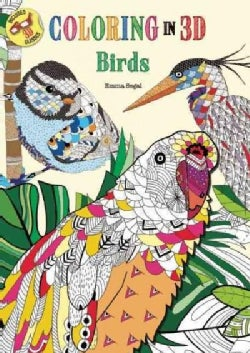 Coloring in 3d Birds (Paperback)