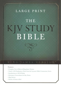 Holy Bible: King James Version, Study Bible, Red Letter Edition (Hardcover)