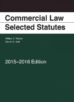 Commercial Law: Selected Statutes, 2015-2016 (Paperback)