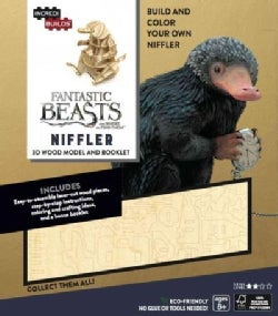 Fantastic Beasts and Where to Find Them Niffler Wood Model + 3D Booklet: Includes Bonus Book