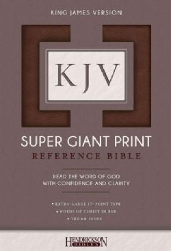 Holy Bible: King James Version, Brown, Super Giant Print (Paperback)