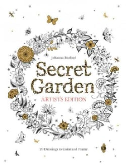 Secret Garden: Artist's Edition: 20 Drawings to Color and Frame (Paperback)