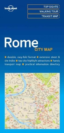 Lonely Planet City Map Rome (Sheet map, folded)