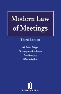 Modern Law of Meetings (Hardcover)