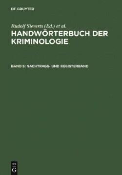 Nachtrags- Und Registerband (Hardcover)