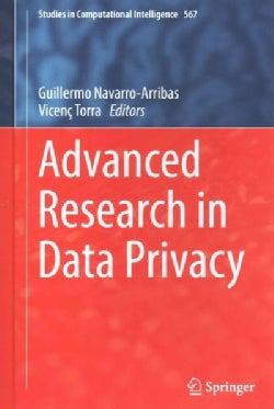 Advanced Research in Data Privacy (Hardcover)