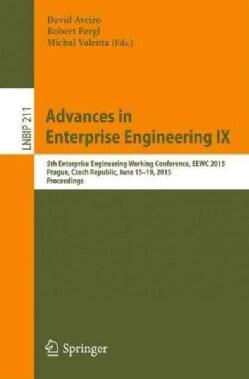 Advances in Enterprise Engineering: 5th Enterprise Engineering Working Conference, Eewc 2015 (Paperback)