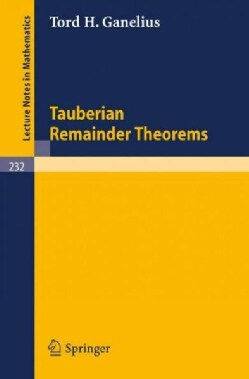 Tauberian Remainder Theorems (Paperback)