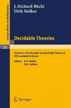 Decidable Theories: The Monadic Second Order Theory of All Countable Ordinals (Paperback)