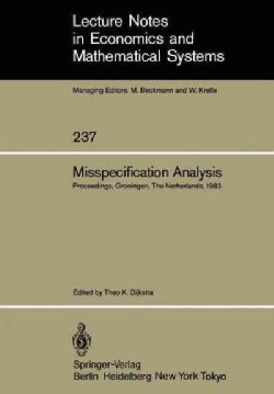 Misspecification Analysis: Proceedings of a Workshop Held in Groningen, the Netherlands December 15u16, 1983 (Paperback)