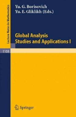 Global Analysis. Studies and Applications I (Paperback)