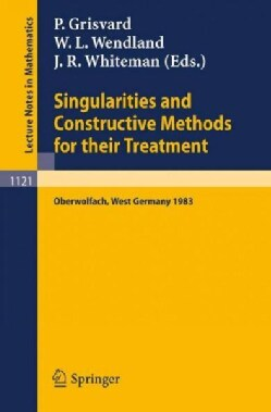 Singularities and Constructive Methods for Their Treatment: Proceedings of the Conference Held in Oberwolfach, We... (Paperback)