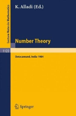 Number Theory: Proceedings of the 4th Matscience Conference Held at Otacamund, India, January 5-10, 1984 (Paperback)