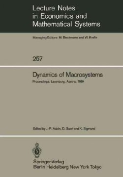 Dynamics of Macrosystems: Proceedings of a Workshop on the Dynamics of Macrosystems Held at the International Ins... (Paperback)