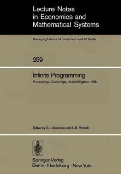Infinite Programming: Proceedings of an International Symposium on Infinite Dimensional Linear Programming Church... (Paperback)
