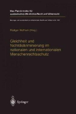 Gleichheit Und Nichtdiskriminierung Im Nationalen Und Internationalen Menschenrechtsschutz (Hardcover)