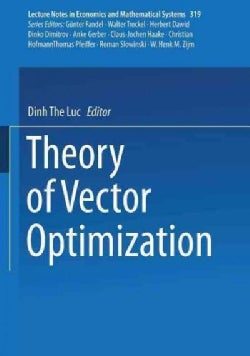 Theory of Vector Optimization (Paperback)
