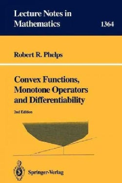 Convex Functions, Monotone Operators and Differentiability (Paperback)