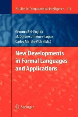 New Developments in Formal Languages and Applications (Paperback)