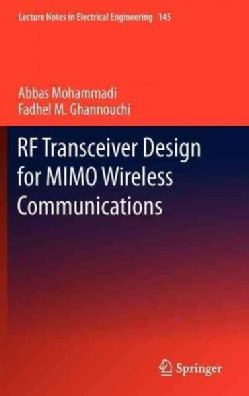 RF Transceiver Design for MIMO Wireless Communications (Hardcover)