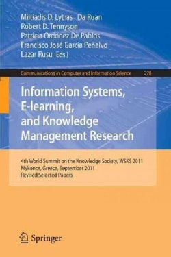 Information Systems, E-learning, and Knowledge Management Research: 4th World Summit on the Knowledge Society, Ws... (Paperback)