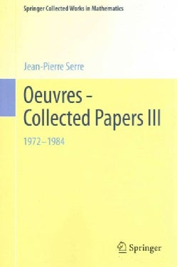 Oeuvres - Collected Papers III: 1972 - 1984 (Paperback)