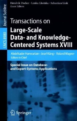 Transactions on Large-scale Data- and Knowledge-centered Systems: Special Issue on Database- and Expert-systems A... (Paperback)