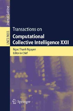 Transactions on Computational Collective Intelligence Xxii (Paperback)