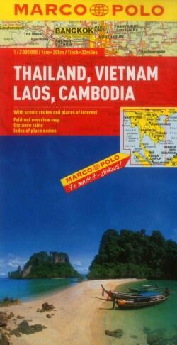 Marco Polo Thailand, Vietnam, Laos, Cambodia (Sheet map, folded)