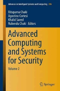 Advanced Computing and Systems for Security (Paperback)