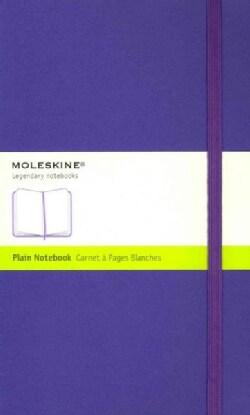Moleskine Notebook Plain Violet Large (Notebook / blank book)