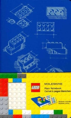 Moleskine Lego Limited Edition Notebook II, Large, Plain, Blue (5 X 8.25) (Notebook / blank book)