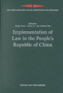 Implementation of Law in the People's Republic of China (Hardcover)