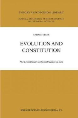 Evolution and Constitution: The Evolutionary Selfconstruction of Law (Paperback)