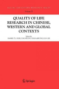 Quality-of-life Research in Chinese, Western and Global Contexts (Paperback)